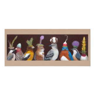 Puce et la carte plate de casse-croûte de partie carton d'invitation  10,16 cm x 23,49 cm