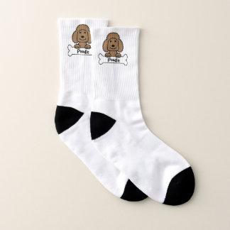 Pudel auf einem Knochen Socken