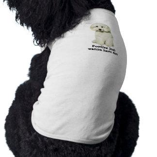 Pudel-Haustier-Kleidung Ärmelfreies Hunde-Shirt