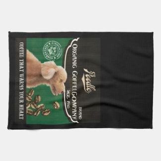 Pudel-Marke - Organic Coffee Company Küchenhandtuch