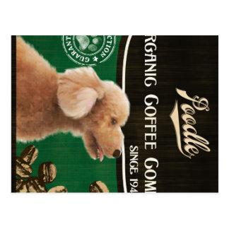 Pudel-Marke - Organic Coffee Company Postkarte