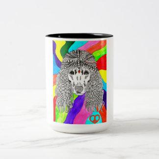 Pudel-Tasse (Sie können besonders anfertigen Zweifarbige Tasse