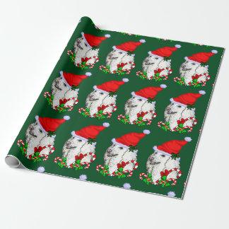 Pudel-Weihnachtsmannmütze-Weihnachten Geschenkpapier
