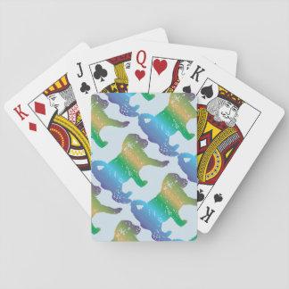 Pudel-Welpen-Liebe-Spielkarten Spielkarten