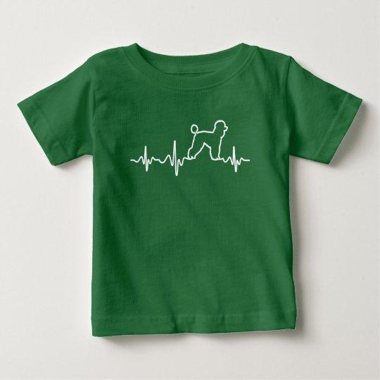 Pudel-Zuhause-Herzschlag Baby T-shirt