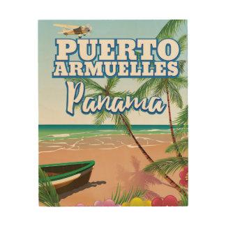 Puerto Armuelles Panama Ferien-Reiseplakat Holzdrucke