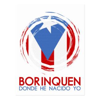 Puerto Rico Borinquen Postkarte