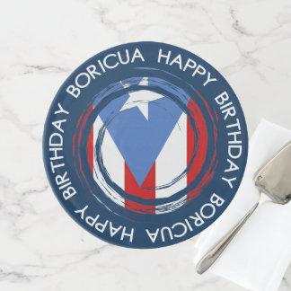 Puerto Rico: Flaggen-Thema: Geburtstag Boricua Tortenplatte