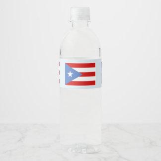 Puerto- Ricoflagge auf hellblauem