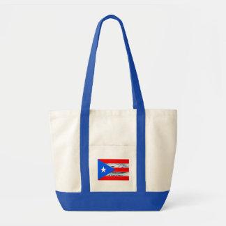 Puerto- Ricoflaggen-Hurrikan-Taschen-Tasche Tragetasche