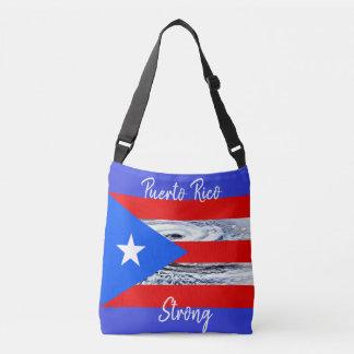 Puerto- Ricoflaggen-Hurrikan-Taschen-Tasche Tragetaschen Mit Langen Trägern
