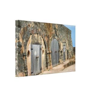 Puerto- Ricoholz-Türen Leinwanddruck