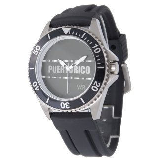 Puerto- Ricostilvolles personalisiertes Armbanduhr