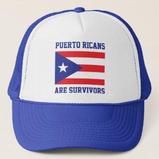 Puertorikaner sind Überlebendaussagenflagge Truckerkappe