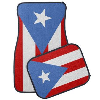 Puertorikanische Flagge Autofußmatte