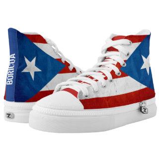 Puertorikanische Stolz-Schmutz-Flagge Hoch-geschnittene Sneaker