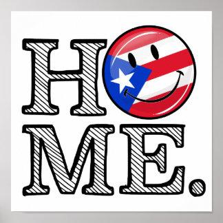 Puertorikanischer Flaggen-Haus-Wärmer Poster