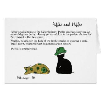 Puffie und Muffie St Patrick Tageskarte Karte