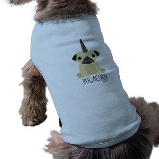 Pugacorn Hündchen-T-Stück Ärmelfreies Hunde-Shirt
