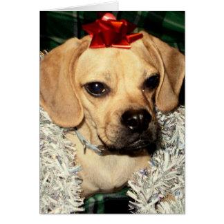 Puggle! Weihnachtskarte Karte