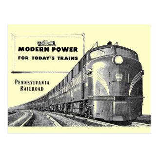 Puissance moderne de train de chemin de fer de la carte postale
