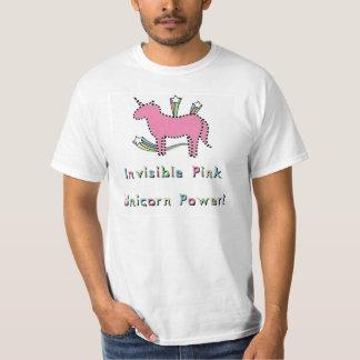 Puissance rose invisible de licorne ! t-shirt