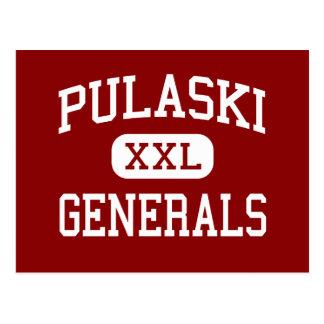 Pulaski - Generäle - Mitte - Neu-Britannien Postkarte