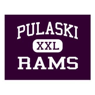 Pulaski - RAMs - Highschool - Milwaukee Wisconsin Postkarte
