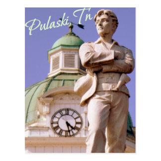 Pulaski, Statue-Postkarte TN Sam Davis Postkarte
