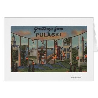 Pulaski, Tennessee - große Buchstabe-Szenen Karte