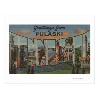 Pulaski, Tennessee - große Buchstabe-Szenen Postkarte