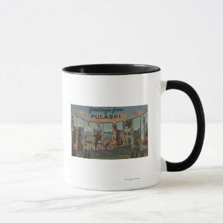 Pulaski, Tennessee - große Buchstabe-Szenen Tasse