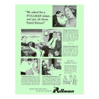 Pullman-Schlafwagen für Nachtzug-Reise Postkarten