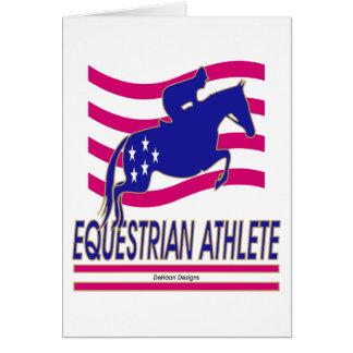 Pullover-Reiterathleten-Karte Grußkarte