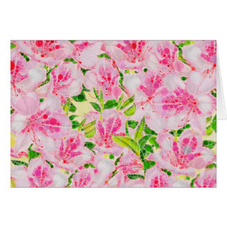 Pulver rosa grünes abstraktes Flowera Karte