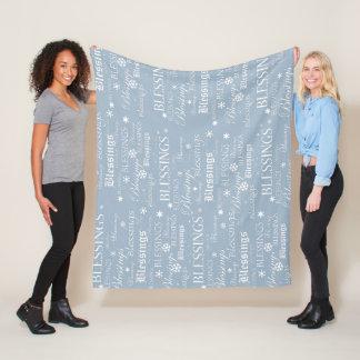 Pulvrige blaue und weiße Segen-Fleece-Decke Fleecedecke