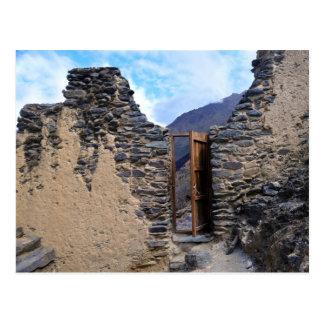 Pumatallis Tempel-Tür zur Inka-Spur, Peru Postkarte