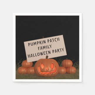 Pumpkin Patch Family Halloween Party Paper Napkins Papierservietten