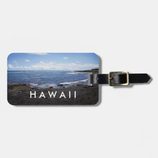 Punalu'u schwarzer Sand-Strand Hawaii Kofferanhänger