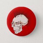 Punk Totenkopf Schädel skull Runder Button 5,7 Cm