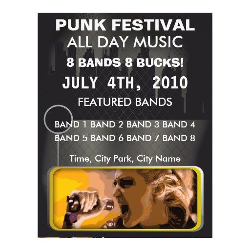 Punkmusik-Festival-Flyer
