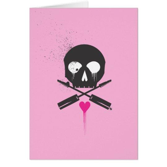 Punkrock-Schädel n entbeint Notecards Karte