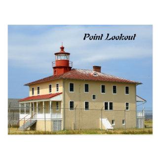 Punkt-Ausblick-Leuchtturm Postkarte