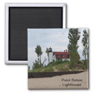 Punkt Betsie Leuchtturm Quadratischer Magnet