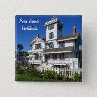Punkt-Fermin-Leuchtturm, San Pedro Quadratischer Button 5,1 Cm