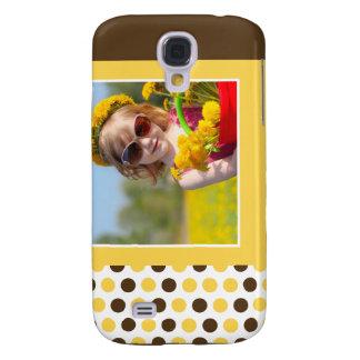 Punkt-Foto-Gewohnheit 3G (Gelb) Galaxy S4 Hülle