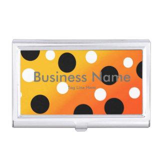 Punkte auf gemischtem OrangeToYellow Visitenkarten-Behälter