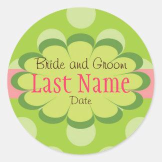 Punkte Personalzied Hochzeits-Aufkleber Runder Aufkleber