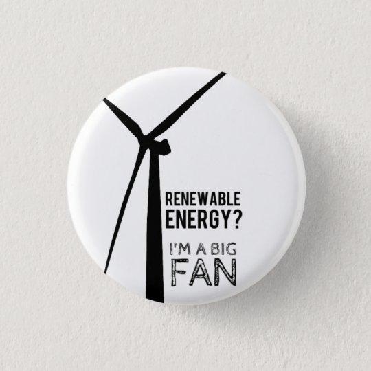 Punny Energien-Windmühlen-Knopf Runder Button 2,5 Cm