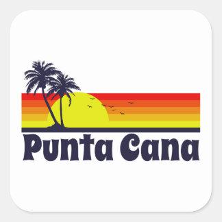 Punta Cana Quadrat-Aufkleber